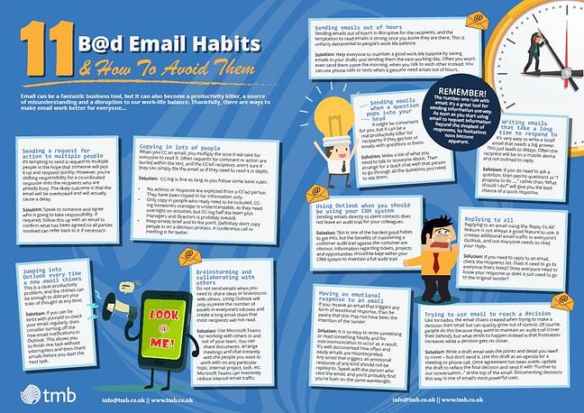 bad email habits