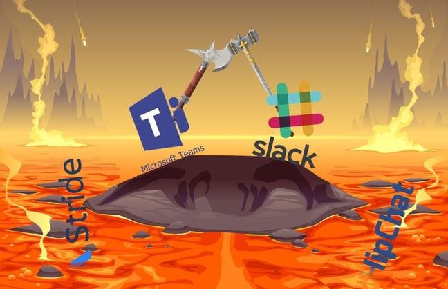 Chat app logos fighting