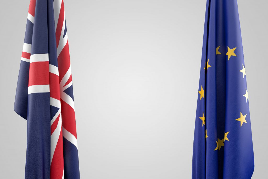 GDPR and Brexit flags