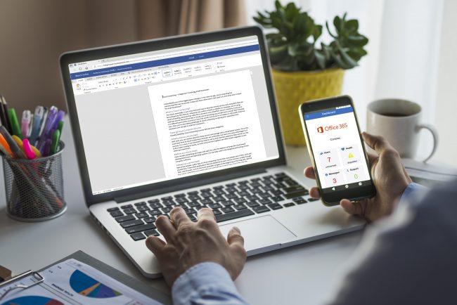 Laptop and phone cloud user - cloud computing