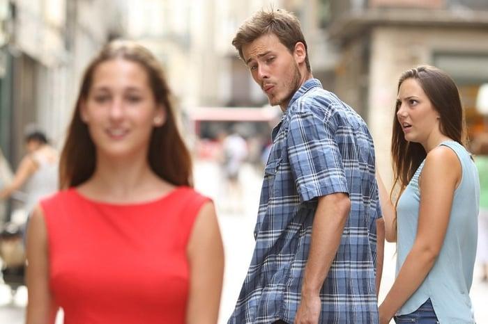 Original distracted boyfriend photo