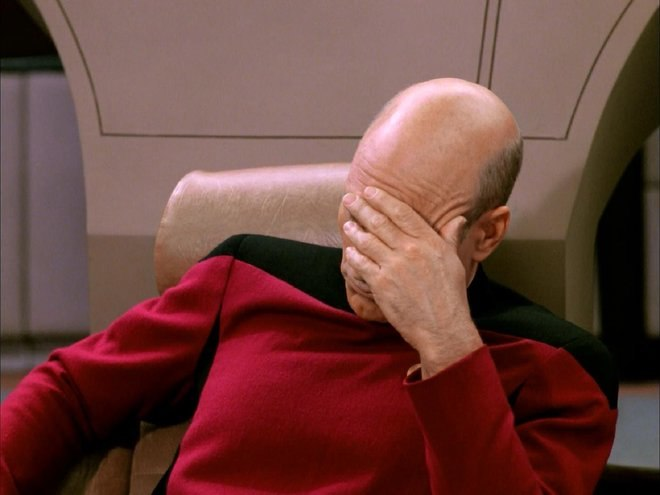 Star Trek facepalm.
