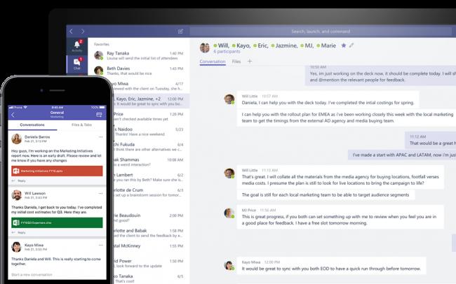 Microsoft Teams and Slack