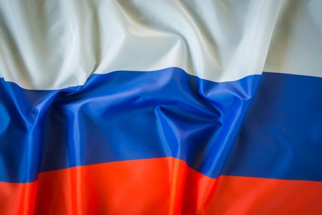 Russian flag - cyber warfare