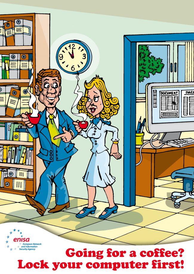 ENISA cartoon. ECSM
