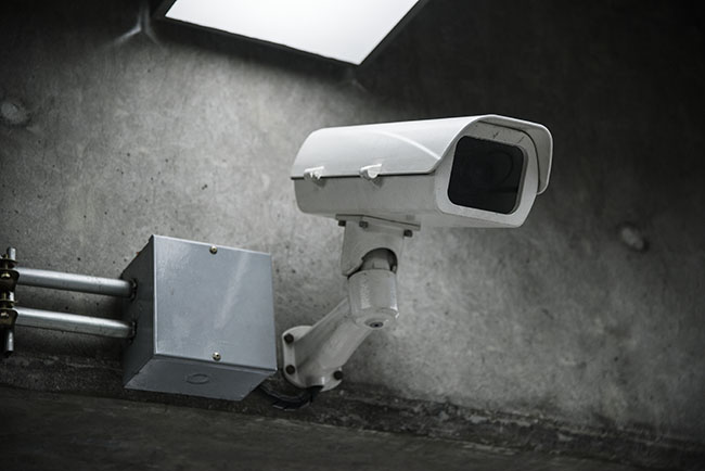 Security camera, possibly with a default password.