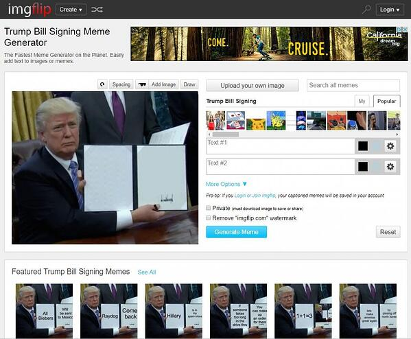 Trump meme generator