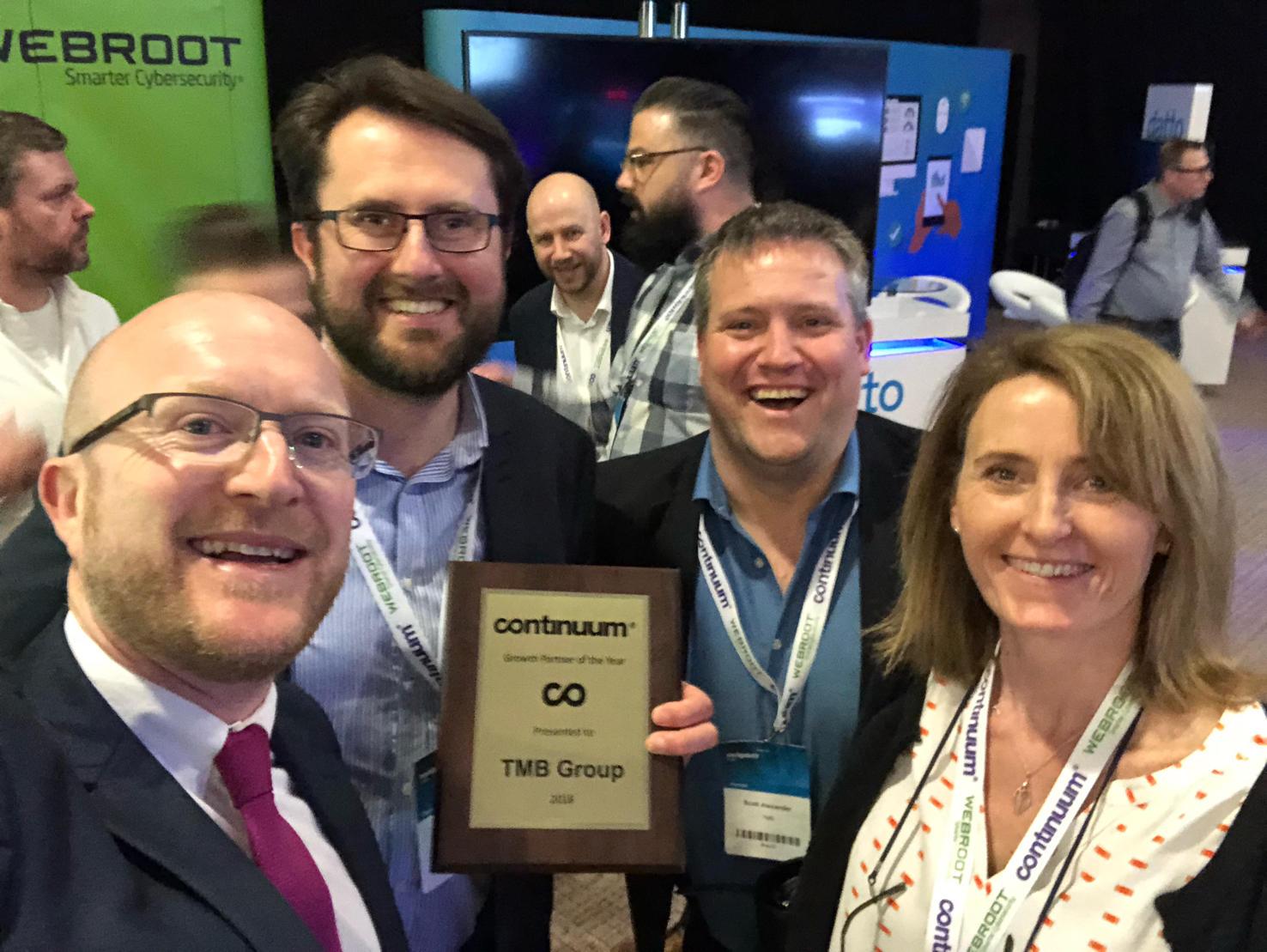 continuum award selfie