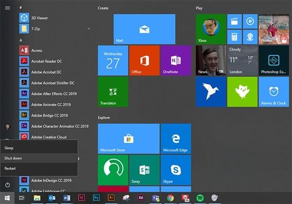 Windows 10 fast startup full shutdown
