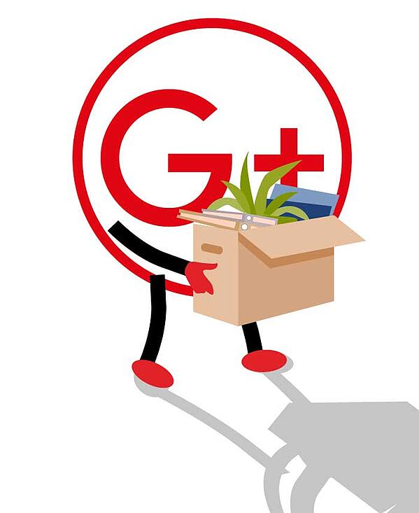 google plus logo packing its belongings