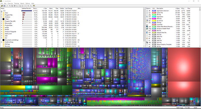 WinDirStat screenshot